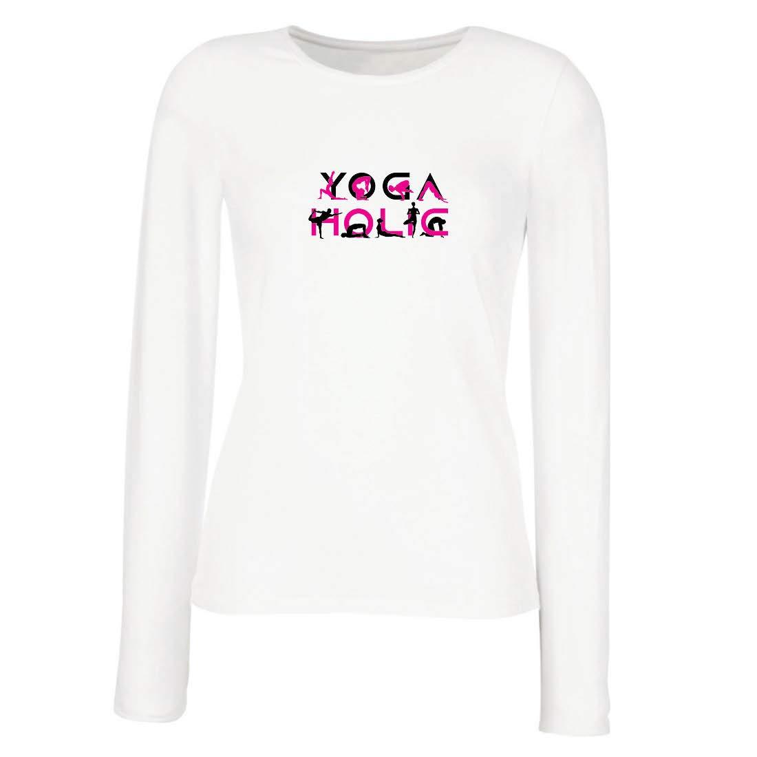 lepni.me Camisetas de Manga Larga para Mujer Yoga Holic ...