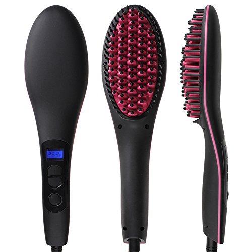Glättbürste - Die Evolution gegen krauses und lockiges Haar - schnell und schonend jeden Tag die Haare glätten, Schwarz