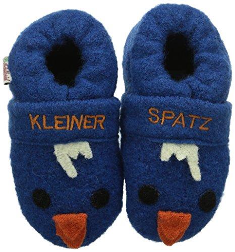 Adelheid Kleiner Spatz Babywollschuh Baby Jungen Krabbelschuhe Blau (steinblau / 225)