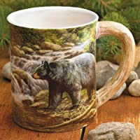 Wild Wings Shadow of the Forest Bear Sculpted Mug, Assorted