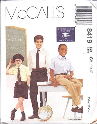 8419 McCalls SEWING Pattern Boys French Toast School Uniform Pants Shorts Size 10 - 14