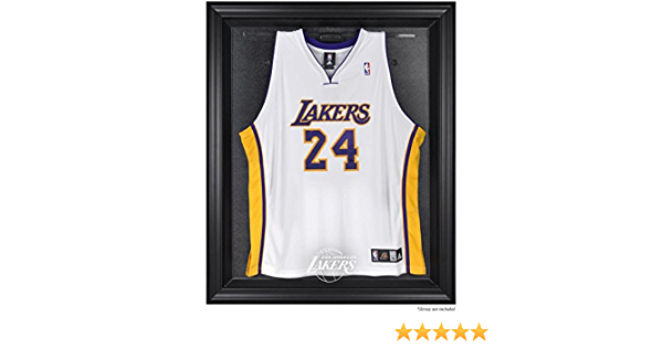 Los Angeles Lakers Brown Framed Logo Jersey Display Case