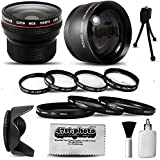 Canon PowerShot SX40 HS SX30 SX20 SX10 SX1 Ultimate 15 Piece lens Kit Package Includes 0.20X Super Wide Angle Fisheye lens, 5 PC Close-Up Set (+1, +2,+4 with 10X Macro Lens) , 2.2x HD AF Telephoto Lens + 3 Piece Pro Filter Kit (UV, CPL, FLD) + Tube Adapter + Deluxe Lens Cleaning Kit + LCD Screen Protectors + Mini Tripod + 47stphoto Microfiber Cloth Photo Print !