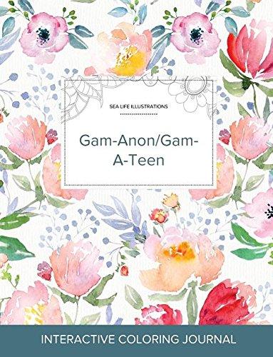 Adult Coloring Journal: Gam-Anon/Gam-A-Teen (Sea Life Illustrations, La Fleur)