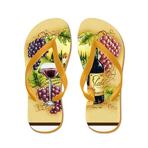 CafePress Best SELLER Grape - Flip Flops, Funny Thong Sandals, Beach Sandals Orange