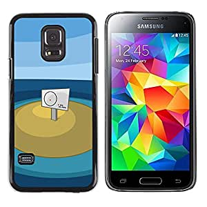 CASEX Cases / Samsung Galaxy S5 Mini, SM-G800, NOT S5 REGULAR! / You Are Here # / Delgado Negro Plástico caso cubierta Shell Armor Funda Case Cover Slim Armor Defender