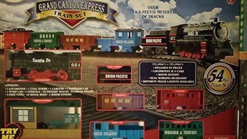 Eztec Grand Canyon Express Train Set 54 Pieces (North Pole Express Christmas Train Set Eztec)