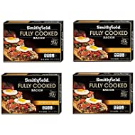 Smithfield Hometown Original Bacon, Fully Cooked, Ready-to-Eat, 14-16 slices, 4 pack