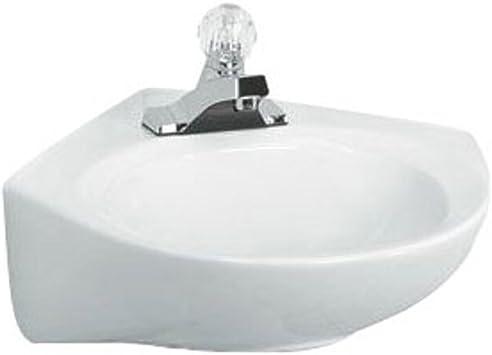 American Standard 0611 001 020 Cornice Wall Hung Lavatory Sink White 1 25 Inch Pedestal Sinks Amazon Com