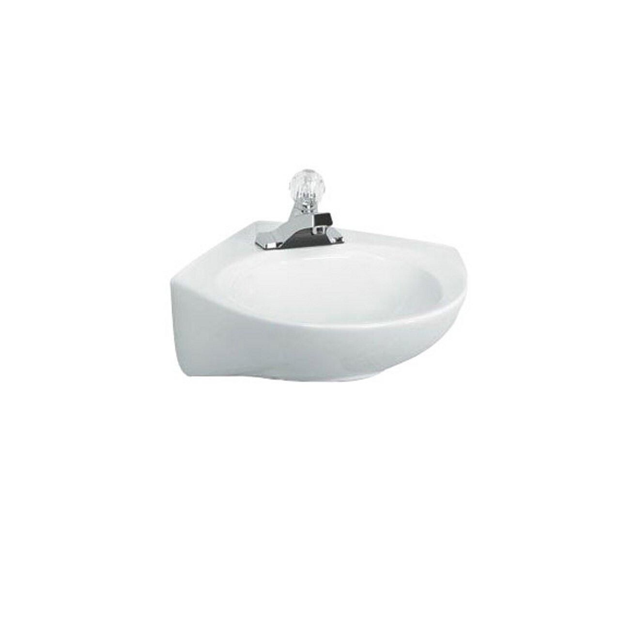 White 0611004.020 American Standard 0611.004.020 Cornice 4-feet Wall-Hung Lavatory Sink
