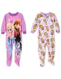 Disney Frozen 2 Onesies Fleece Girls Pajamas , Toddler Sizes 2T-4T