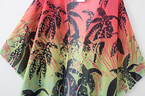 Clode® Femmes Imprimer Chiffon Loose Shawl Kimono Cardigan Top Cover Up Shirt Blouse