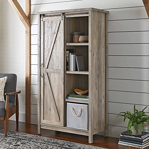 Better Homes And Gardens Modern Farmhouse Storage Cabinet Rustic Gray Finish Me Lovey