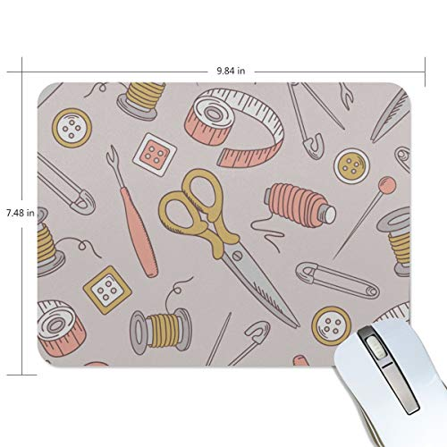 (Fashion Retro Unique Custom Mousepad Needlework Daily Necessities Color Printing Non-Slip Rectangle Natural Rubber Fabric Mouse Mat Gaming Mouse Pad)