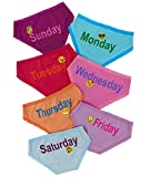 Esme Girls Day of Week Panty Set Emoji (7pc) M 6-6x