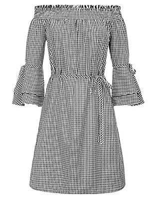 GRACE KARIN Women's Off Shoulder Party Dress Casual Loose Shift Mini Dress