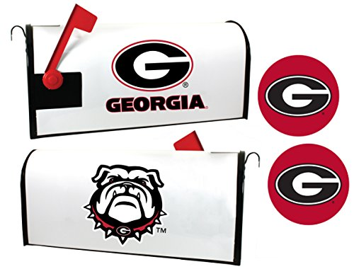 Georgia Bulldogs Magnetic Mailbox Cover & Sticker Set (Georgia Bulldog Mailbox Cover)