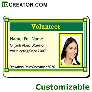 Amazon com : Custom Volunteer Badge : Office Products