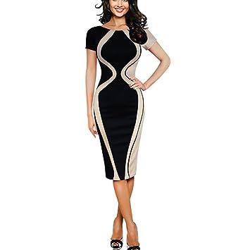 5a622737a4c7f Women Bodycon Dress Plus Size,Vanvler Ladies Short Sleeve {Pencil Mini  Dress} Business Office Dress
