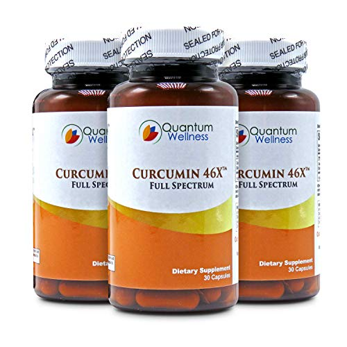 Curcumin 46x with Turmeric, Anti-Inflammatory, Anti-Oxidant with Curcuwin for 46X Higher Bioavailability for Better Absorption for Joint Pain Relief. Made in The USA (3 Bottles - 90 Capsules) by Quantum Wellness Botanical Institute (Image #9)