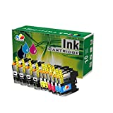 T Surplus Compatible Ink Cartridges Replacement for Brother LC203 LC-203 (4 Black,2 Yellow,2 Magenta,2 Cyan - 10 PK)