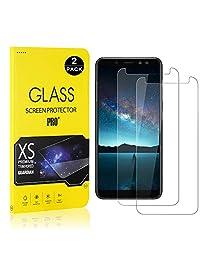 Galaxy A8 2018 Screen Protector, Bear Village® Tempered Glass Screen Protector [Lifetime Warranty], 9H Hardness Screen Protector Film for Samsung Galaxy A8 2018-2 PACK