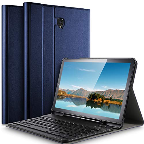 IVSO Keyboard Case for Samsung Galaxy Tab S4 10.5 SM-T835 - Detachable Wireless Keyboard Front Prop Stand Case for Samsung Galaxy Tab S4 SM-T830 Wi-Fi SM-T835 4G LTE 10.5-inch Tablet (Blue)