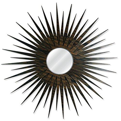 Midcentury Modern Decor 'MCM Starburst Mirror-Walnut' by Adam Schwoeppe - Wooden Sunburst Mirror Retro Wall Decor on Walnut (Sunburst Spacers)