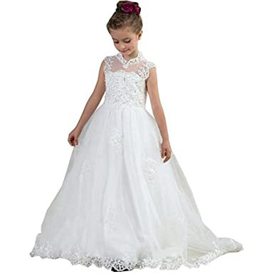 Kalos Dress Shop 2018 White Flower Girl Dresses For Wedding First