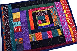 Abstract Patchwork Mini Quilt, Wall Hanging or Place Mat