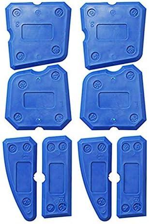 修理壁縫製ツール8セットのガラスプラスチックスクレーパープラスチックスクレーパープロフェッショナルファッションポータブル-ブルー