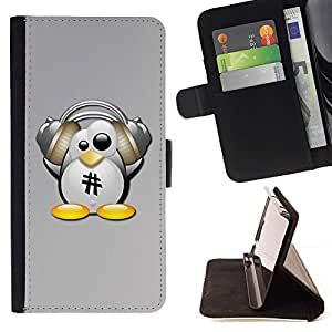 For LG G3 Linux Funny Penguin Beautiful Print Wallet Leather Case Cover With Credit Card Slots And Stand Function