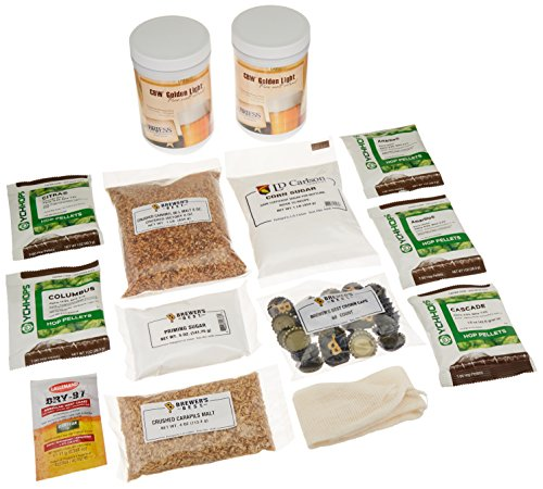 - Brewer's Best B00VIOJ10C Package (Premium) Pacific Coast IPA Beer Ingredient Kit, 5 gallon, Amber