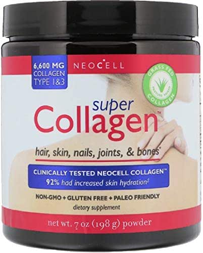 Super BioActive Collagen Powder 6600 mg Type 1 & 3 Hair Skin Nails Joints Bones 7 oz 198 g