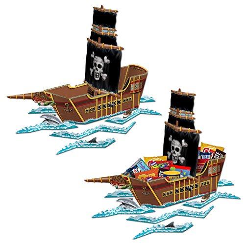 Beistle S54597AZ2 Pirate Ship Centerpiece Multicolored -
