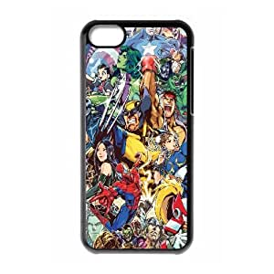 iPhone 5c Cell Phone Case Black Marvel Heroes LV7159729