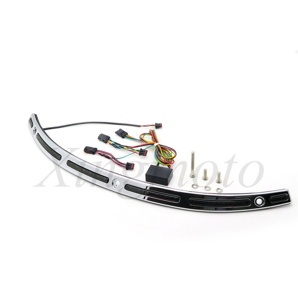NBX LED Illuminated Windshield Trim For Compatible with Harley Touring Street Glide FLHX 14 15 16 17