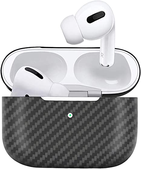 MONOCARBON Genuine Carbon Fiber Case for AirPods Pro Case Slim Protective Case for Apple AirPods 3 Earbuds Wireless Charging Box Matte Finishing
