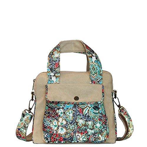 National Wind Messenger Bag Canvas Tasche Lässige Umhängetasche Geschleudert Taschen-B B