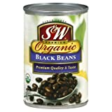 S&W Black Beans, Organic, 15-Ounce (Pack of 12)