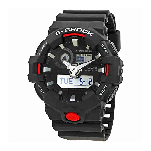 Casio Men's 'G Shock' Quartz Resin Casual Watch, Color:Black (Model: GA-700-1ACR) by Casio