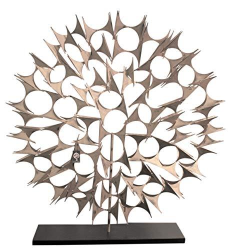 - Global Views Modern Silver Black Abstract Fireplace Screen | 38