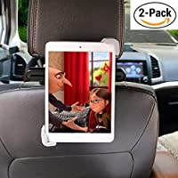 iPad Car Mount - HoPRo [2 Pack] Tablet Headrest Holder Car Backseat Mount with 360 Degree Rotation, Universal Tablet Stand for iPad Mini, iPad Air, 7 - 10.1 Inch Tablets, Travel Kit (Black and Grey)