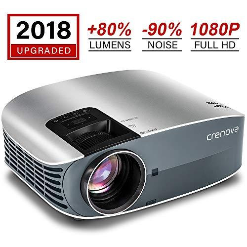 HD Projector, 2018 Upgraded (+80% Brightness)...