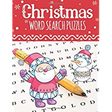 Christmas Word Search Puzzles: Large Print Christmas Word Search Puzzles for Adults & Kids