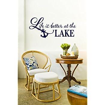 Life Is Better At The Lake Vinyl Decal   Lake Vinyl Saying, Lake Vinyl Wall Part 86