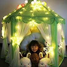 Kids Indoor Princess Hexagon Play Tent Girls Indoor or Outdoor Castle Playhouse for Childs Sun Tent As Great Gift for Boys and Girls (Green)