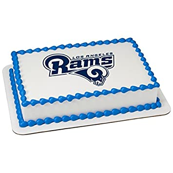 Amazon NFL Los Angeles Rams Licensed Edible Sheet Cake Topper