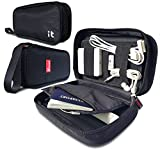 Travel Cord Organizer - Electronics Accessories Case & Cable Organizer - Electronics Travel Organizer (Hand Black)