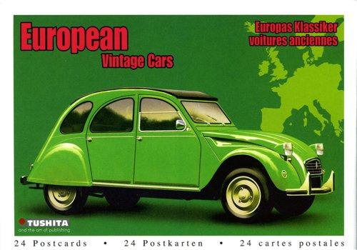 European Vintage Cars Postcard Book
